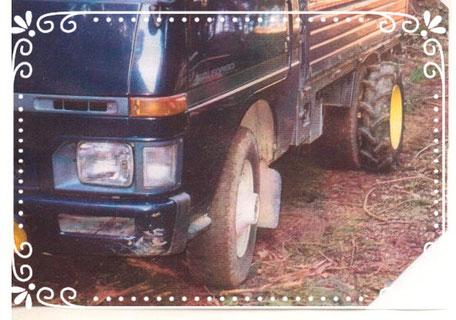 【楽輪】品番001番のタイヤサイズ・アップ仕様 林業