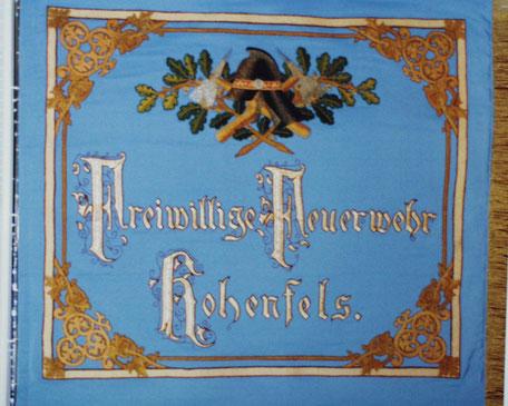 antike Feuerwehr Fahne Hohenfels