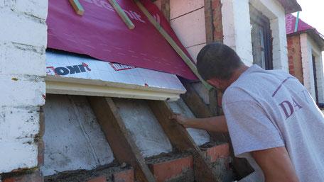 Chantier d'isolation de toiture à Nivelles