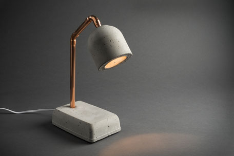beton nachttischlampe bedside lamp smart concrete. Black Bedroom Furniture Sets. Home Design Ideas
