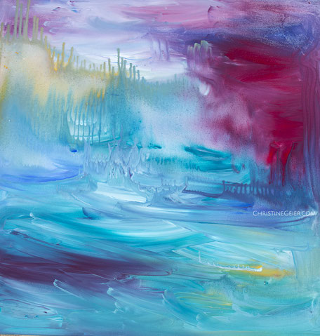 Acryl, Leinwand, Intuitive Malerei, Kunst, Atlantis, Lemurien, Visionsmalerei, Bayreuth