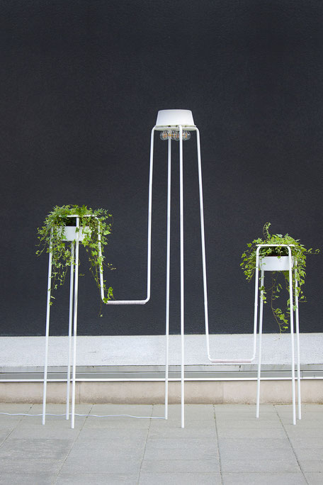 OVERGROWN OBJECT - IKEA Hacked by Lucas & Lucas - An object made of connected MARIUS stools that are overgrown with invasive plants