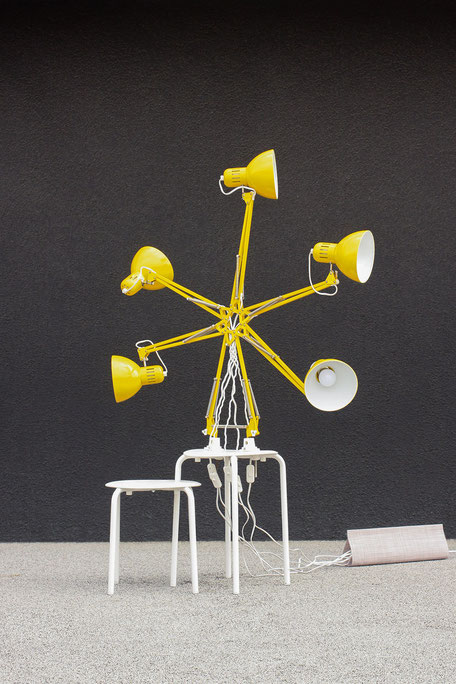 BOLTED LAMP- IKEA Hacked by Lucas & Lucas - light object made of TERTIAL desk lamps and MARIUS stool