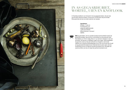 Book design and illustrations by Marijke Lucas - Lucas & Lucas for TERRA - Spread from the chapter VEGETABLES