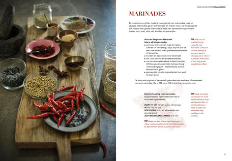 Book design and illustrations by Marijke Lucas - Lucas & Lucas for TERRA - Spread from the chapter SEASONINGS