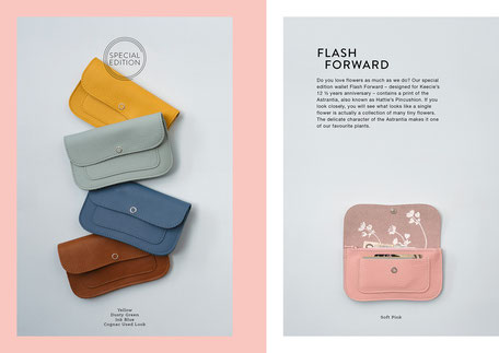 Book design and Art direction by Marijke Lucas - Lucas & Lucas for Dutch bags and accessories label Keecie - WALLET FLASH FORWARD