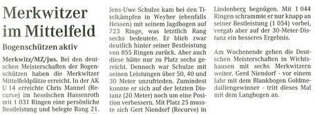 Merkwitzer bei der DM in Hassenroth, Weyher und Lindenberg