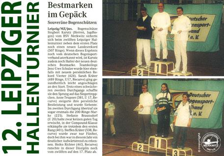 Merkwitzer Bogenschütze stellt neuen Landesrekord in Leipzig auf