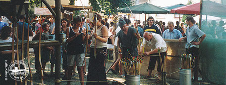Bogenschießen mit dem BSV Merkwitz 1997 beim 2. Kemberger Marktspektakulum