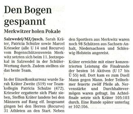 Artikel - Jeetzepokal 2001 - BSV Merkwitz 1997 e.V.