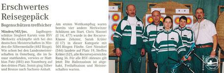 Silber für BSV Merkwitz 1997 bei der DM FITA in Minden