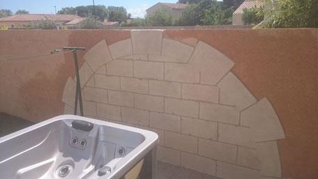 Arche imitation pierre de taille