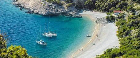 Flottillentörn und Flottillensegeln ab Pula Istrien Kroatien, Zadar Kornaten, Split Dalmatien, Dubrovnik, Korcula Flottille