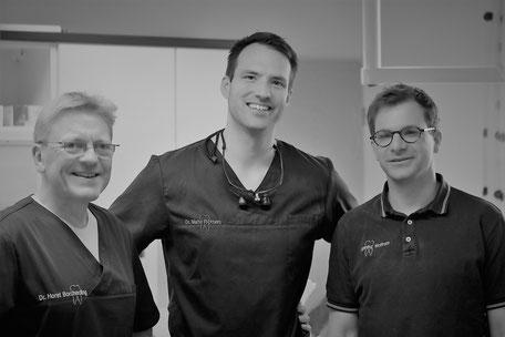 Zahnärzte Dr. Borcherding, Dr. Richters und Herr Wolfram