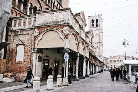 Ferrara Italy ofpenguinsandelephants of penguins & elephants Romanesque Gothic cathedral of Ferrara