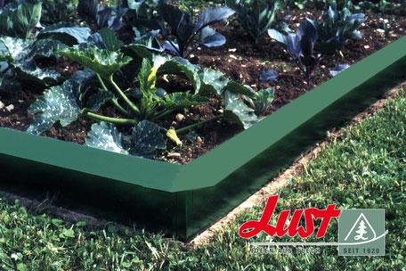Schneckenblech grün beschichtet