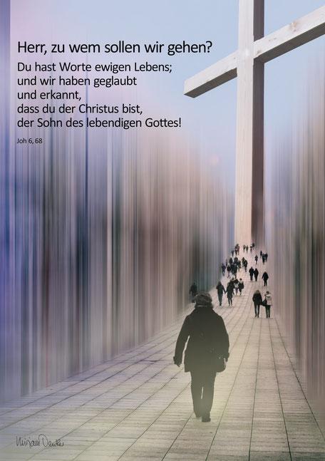 Christliche Spruchkarten, Johannes 6, 68