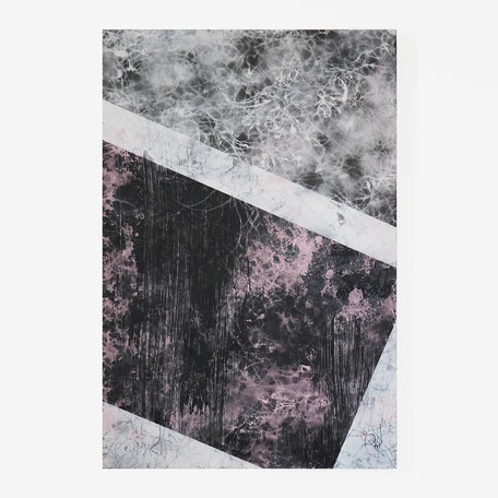 Katharina Lehmann, Floating Spaces No1, 60 x 40 cm, 2020 · Acrylic on wood