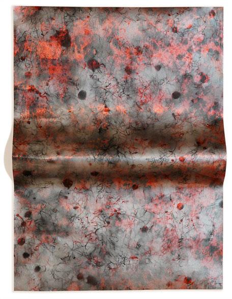Katharina Lehmann, Today, up on this hill, 66 x 49 cm, 2019 · Acrylic on foil