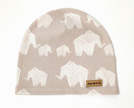 Hapitime Bio Kinder Mütze handmade Elefanten