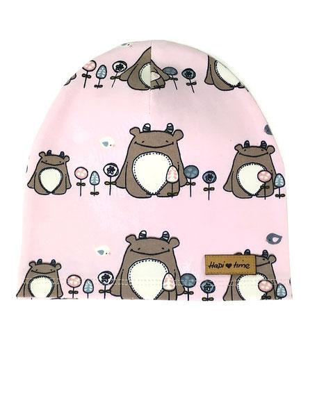 Mütze rosa bio Kinder