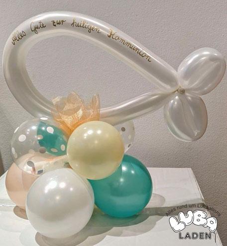 Modellierballon Fisch als Symbol für  Christ