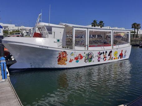 Alquiler de barco para despedida de solteros Huelva