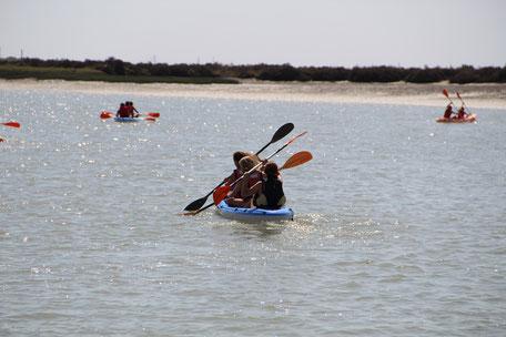 ruta en kayaks por El Puerto de Santa María