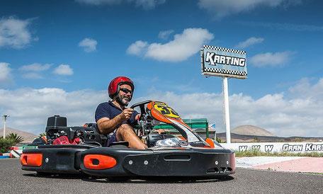 carrera de karts en lanzarote