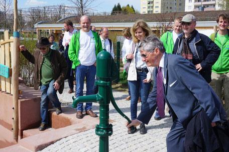 Fahrt zur Landesgartenschau Lahr Wasserpumpe