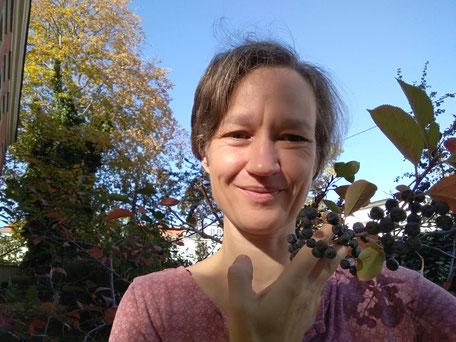 Die Aronia ist ein Rosenblütengewächs, genau wie der Apfel und der Frauenmantel. Es grüßt die Vemus!