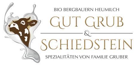 Das Logo der Familie Gruber vom Bauernhof Gut Grub und Schiedstein