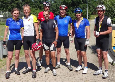 Im Ziel bei der Birenbacher Bergeles Tour 2017