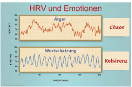 Auswirkung Emotionen auf die HRV (Herzratenvariabilität)