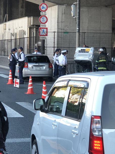 新家東交差点,横転事故,東大阪,交通事故