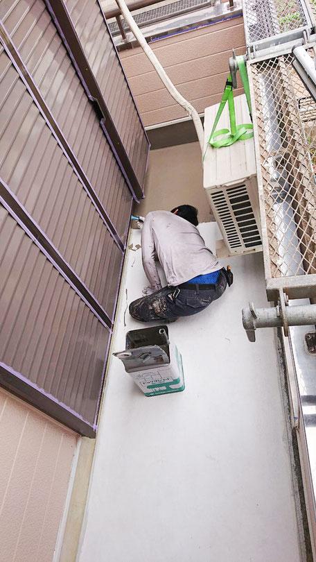 千葉市緑区にてベランダ防水作業2