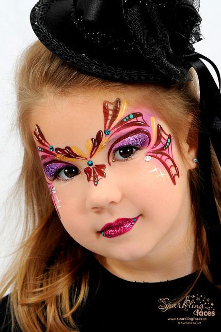 Kinderschminken_Vorlagen; Schminkfarben_kaufen_Schweiz; Kinderschminken_Kurse; einfach; Spinne