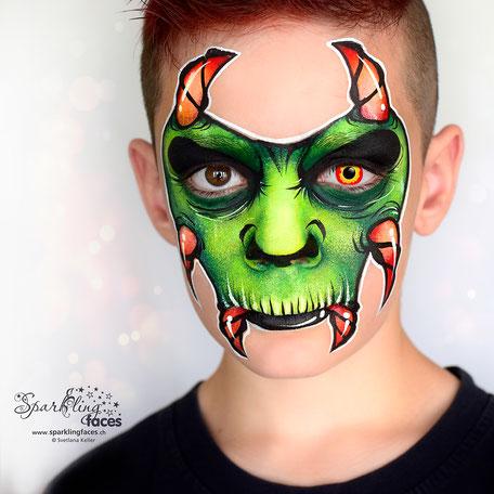 Kinderschminken_Vorlagen; Schminkfarben_kaufen_Schweiz; Kinderschminken_Kurse; einfach; Halloween