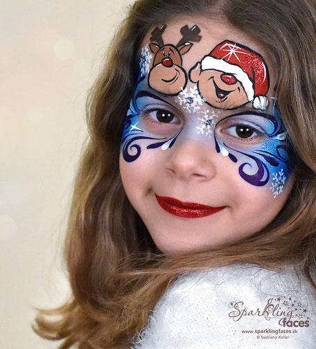 Kinderschminken_Vorlagen; Schminkfarben_kaufen_Schweiz; Kinderschminken_Kurse; einfach; Schneemann