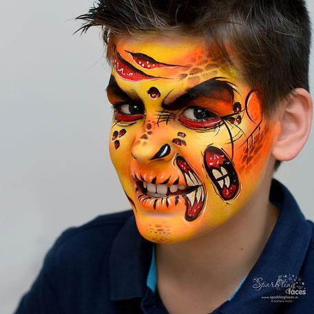 Kinderschminken_Vorlagen; Schminkfarben_kaufen_Schweiz; Kinderschminken_Kurse; einfach; Totenkopf