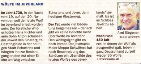 Beitrag NordWestZeiung v. 17.7.2012