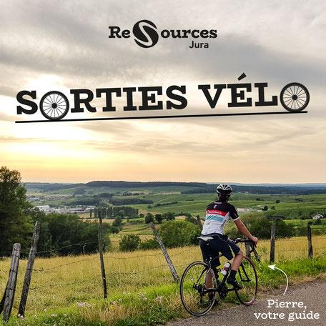 Pierre, votre guide Re-Sources Jura, vous emmène en balade à vélo dans les environs d'Arbois.
