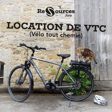 Re-Sources Jura propose la location de vélo tous chemin, avec ou sans assistance électrique