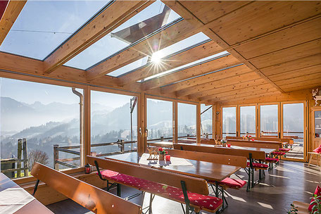 Restaurant in Oberaudorf auf 660 m Höhe Berggasthof Hummelei