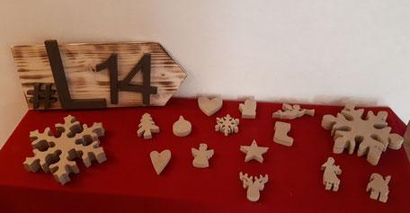 Supports à décorer en médium Noël Hautes-Pyrénées