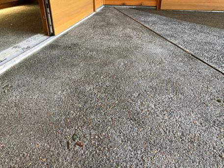 栃木県のバルコニー菜園のある家の家づくりの様子/玄関ポーチの左官工事