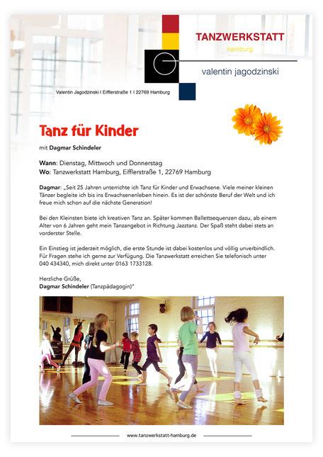 Kindertanz Tanz für Kinder Hamburg Schanze Sternschanze Altona