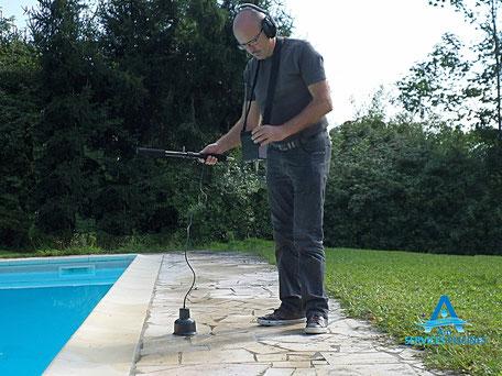 Recherche de fuites piscine écoute amplifiée