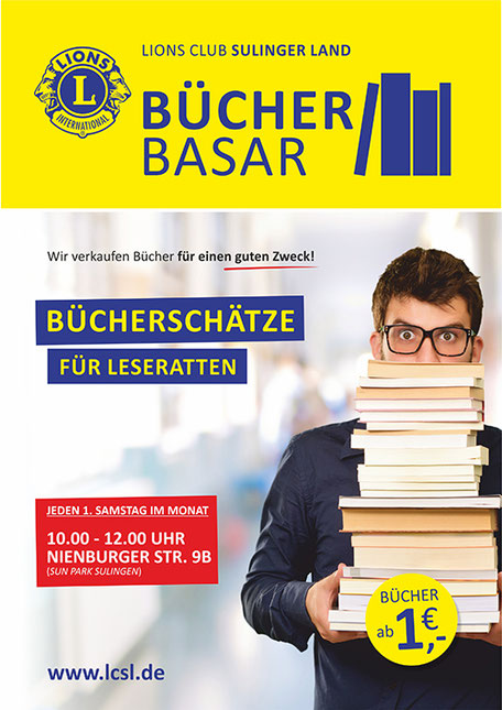 Lions Club Sulinger Land Activity Plakat Bücherbasar