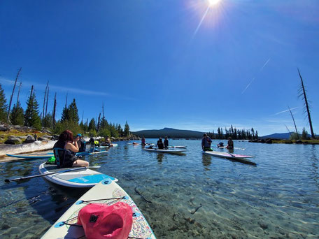 Stand Up Paddle Boarding on Waldo Lake, Oregon